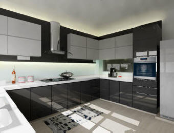 kitchen cabinets with imported laminates and designs
