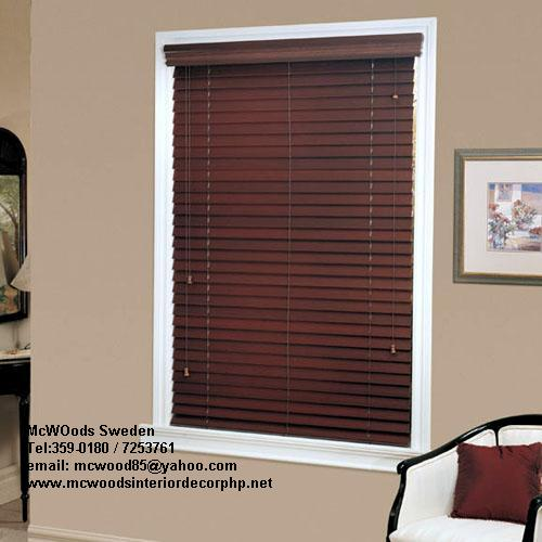 mcwoods fauxwood real wood blinds