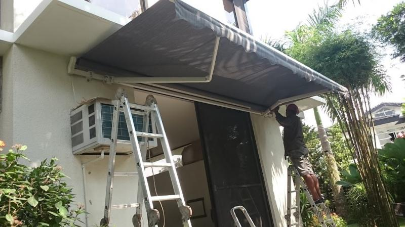 Installation of Motorized Awnings at Ayala Heights
