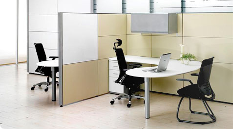 office cubicles wood structure with laminates covering