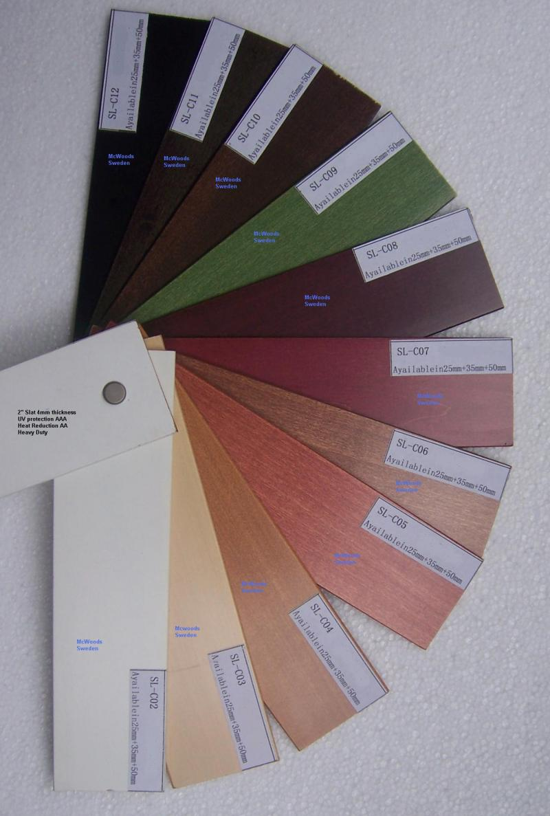 fauxwood color chart