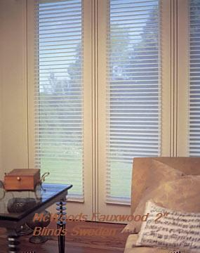 SWEDEN WHITE REAL WOOD FAUXWOOD BLINDS 245/SQFT